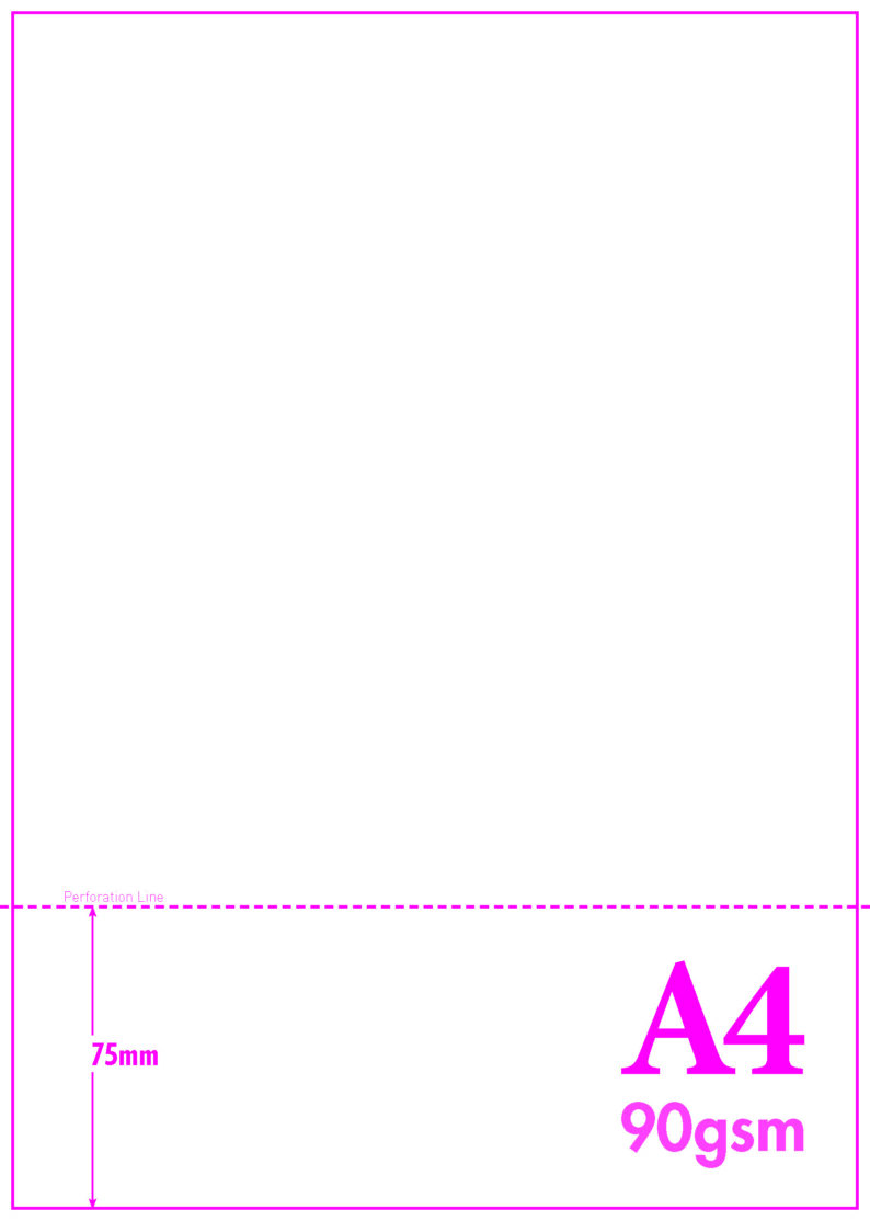 A4 PAPER WITH PERFORATIONS