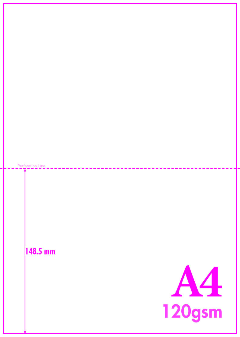A4 Blank Perf A5 120gsm