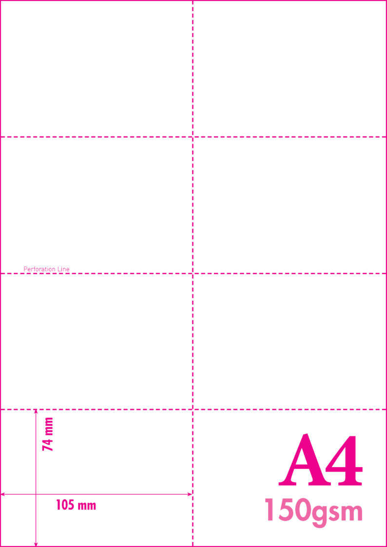 A4 MICRO PERFORATED CARD