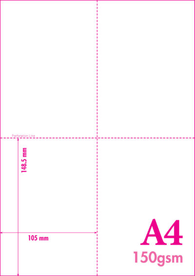 MICRO PERFORATED A4 CARD
