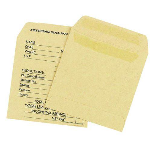 Printed Manilla Wage Envelope