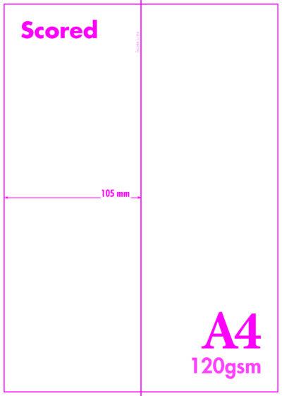 A4 Blank Scored 120gsm 1V
