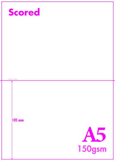 A5 Blank Scored 150gsm A6