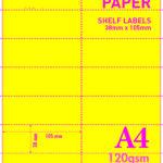 A4 Blank Perf 120gsm 2-14+Y