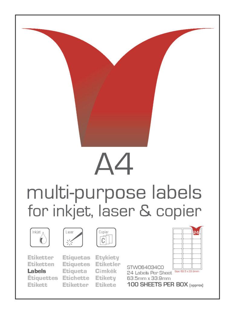 A4 multi purpose labels