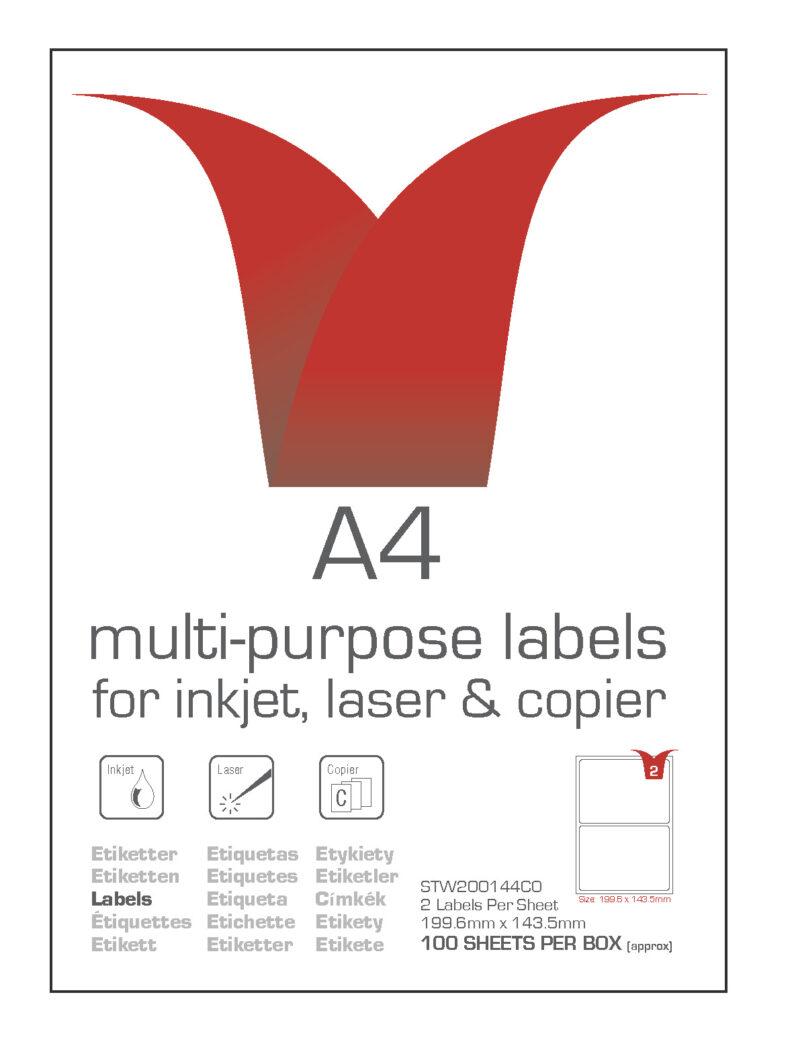 Multi Purpose Label 2 per sheet