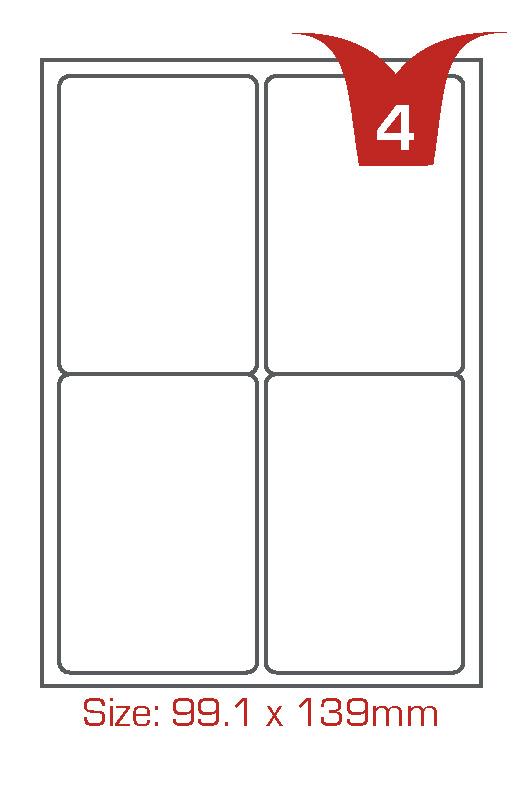 4 labels per sheet