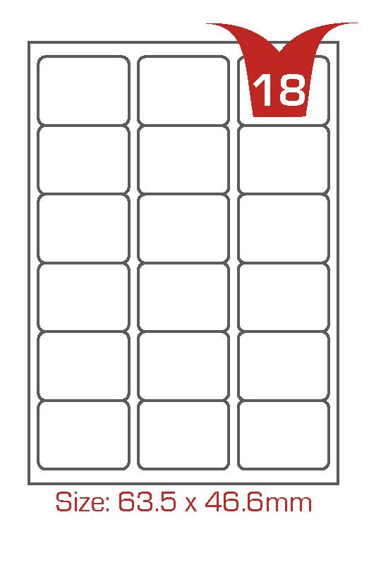 18 labels per sheet