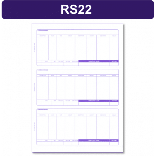 RS 22 sage payslips