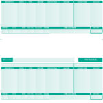 SAGE COMPATIBLE  A4 PAYSLIP – 2 PER PAGE (GREEN)