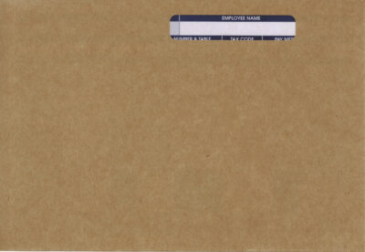 IRIS MANILLA SELF SEAL WAGE ENVELOPE - NAME ONLY (USE WITH PEG215)