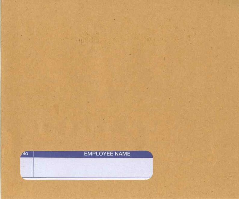 SAGE MANILLA SELF SEAL WAGE ENVELOPE – NAME ONLY (for SLPAY1 and SAG510)